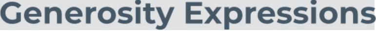 Generosity Expressions Logo